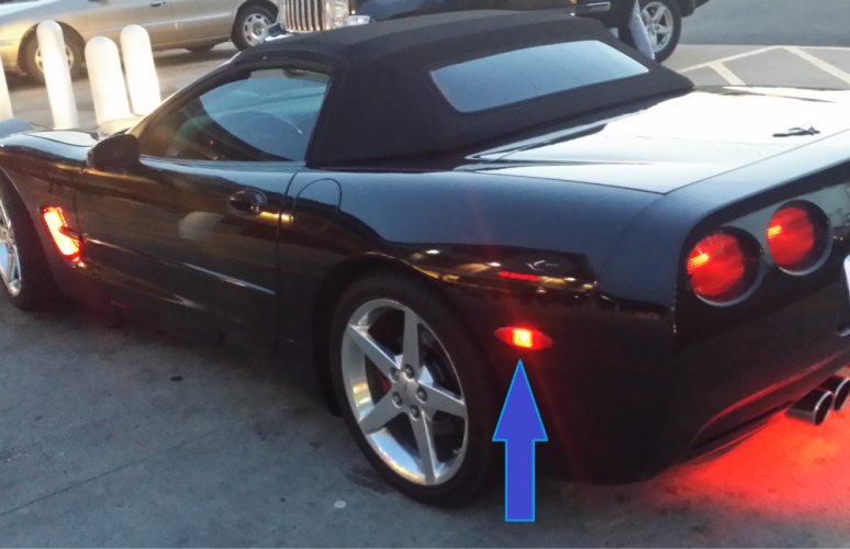 C5 C6 Corvette Set Of 4 Rear And Side Marker Lights 2 Amber And 2 Red For Sale Corvette