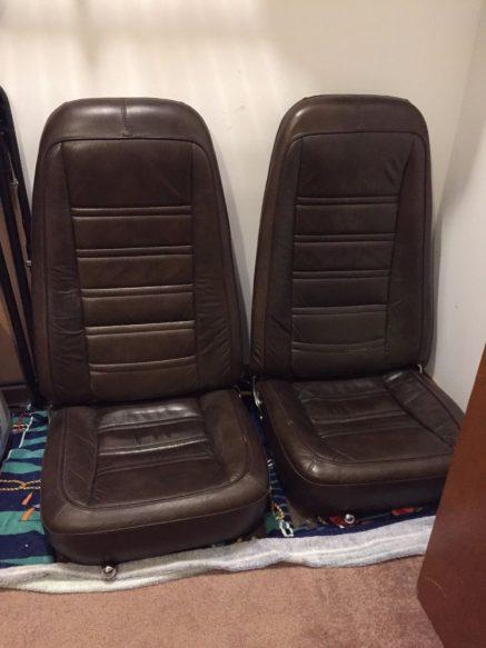 1976 Corvette Dark Brown Leather Seats For Sale