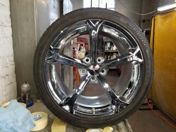 2010 Corvette Grand Sport Chrome Wheels Set Of 4 For Sale