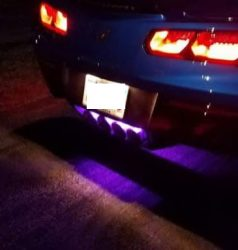 C7 corvette exhaust plate led blue